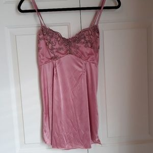Other - Pink silky lingerie nightie size extra small lace